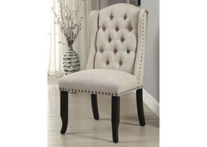 Sania I Antique Black/Beige Side Chair (Set of 2)