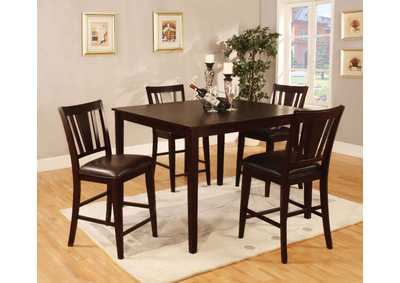 Bridgette ll 5 Piece Square Counter Height Table Set