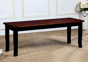 Dover Black/Cherry Bench