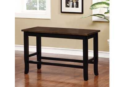Dover Black/Cherry Counter Height Bench