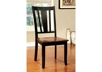 Dover Side Black & Cherry Side Chair (Set of 2)
