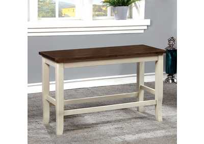 Image for Dover White/Cherry Counter Bench