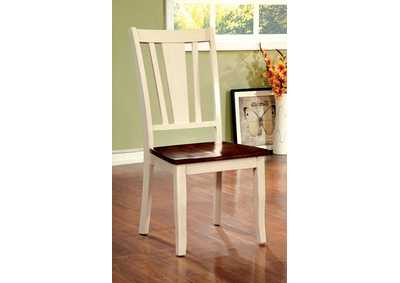 Dover White & Cherry Side Chair (Set of 2)