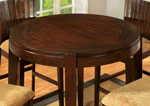 Ottawa I Dark Walnut Round Dining Table