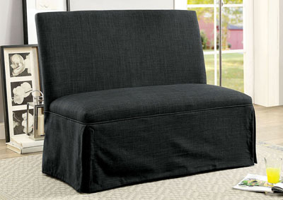 Kortrijk I Dark Gray Loveseat Bench