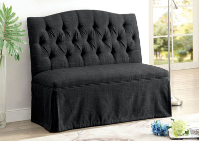 armless gwenn home at modern shop contemporary settee loveseat products idf bench