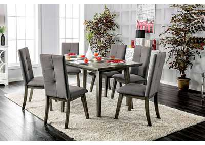 Abelone Gray Rectangular Dining Table