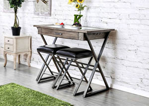 Image for Glasby Weathered Gray Wine Bar Table
