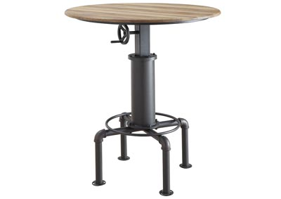 Fran Sand Black Wine Bar Table