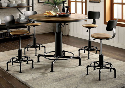 Fran Sand Black Dining Table w/Height Adjustable
