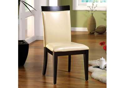 Downtown I Espresso/Ivory Leatherette Side Chair (Set of 2)