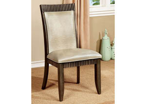 Forbes l Silver Leatherette Side Chair (Set of 2)