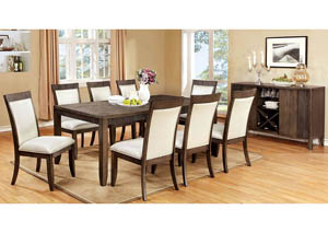 Forbes l Extension Dining Table w/6 Side Chairs