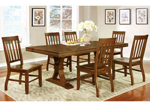 Foster I Dark Oak Extension Dining Table w/6 Side Chairs