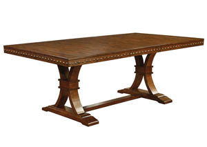Foster l Dark Oak Dining Table w/18
