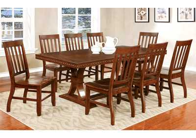 Foster I Dark Oak Extension Dining Table w/8 Side Chairs