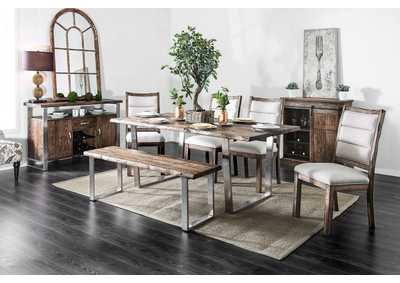 Image for Mandy Antique Mango Oak Dining Table