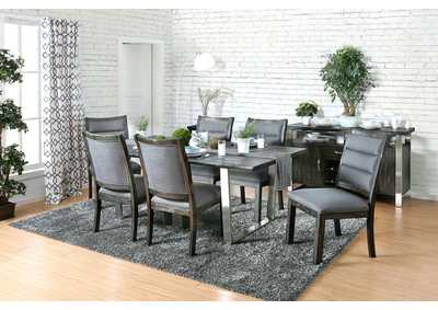 Mandy Antique Gray Dining Table