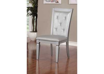 Alena Silver Side Chair (Set of 2)
