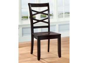 Giselle Espresso Cross-Back Side Chair (Set of 2)
