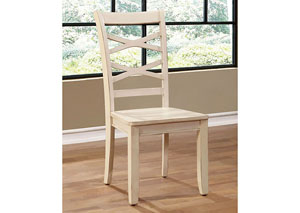 Giselle White Cross-Back Side Chair (Set of 2)