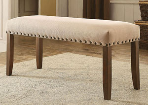 Brentford Ivory Fabric Bench