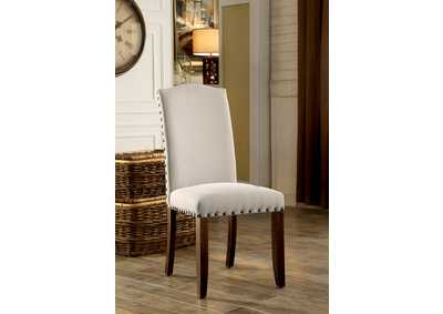 Brentford Ivory Fabric Side Chair (Set of 2)
