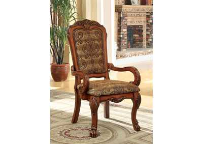 Medieve Antique Oak Arm Chair (2/Box)
