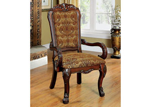Image for Medieve Cherry Arm Chair (2/Box)