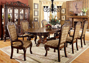 Medieve Cherry Oval Dining Table