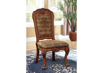 Image for Medieve Antique Oak Side Chair (2/Box)