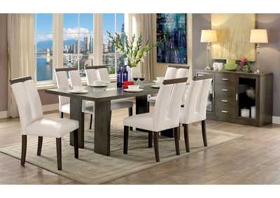 Image for Luminar I Gray LED Light Dining Table w/6 Side Chairs