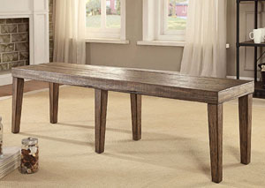 Image for Colette Rustic Oak Bench
