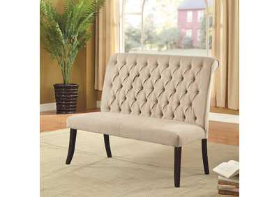 Mashall Ivory Loveseat Bench