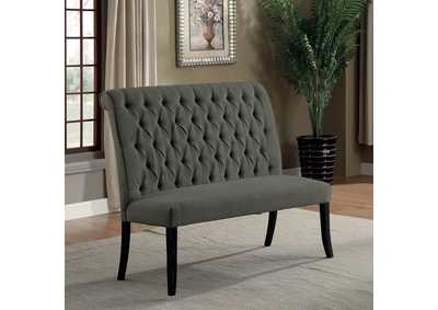 Mashall Gray Loveseat Bench