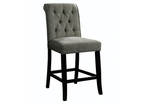 Izzy Gray/Antique Black Counter Height Chair (2/CTN)