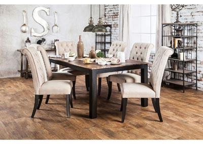 Marshall Rustic Oak Dining Table w/4 Side Chairs