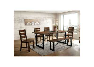 Dulce Walnut 2-Tone Dining Table