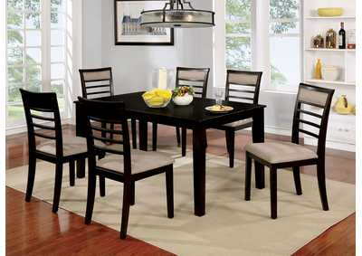 Fafnir Espresso 7 Piece Dining Table Set