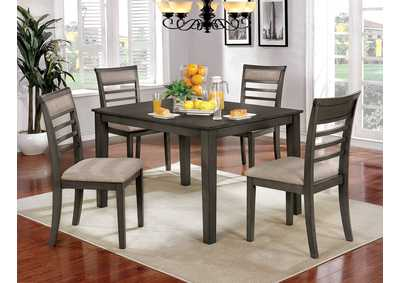 Fafnir Weathered Gray 5 Piece Dining Table Set