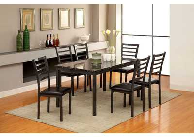 Colman Contemporary Dining Table w/6 Side Chairs