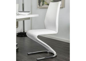 Image for Midvale White/Chrome Side Chair (Set of 2)