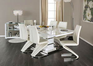Image for Midvale White/Chrome Dining Table
