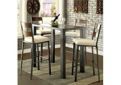 Jazlyn II Weathered Oak Counter Height Table w/4 Counter Height Chairs