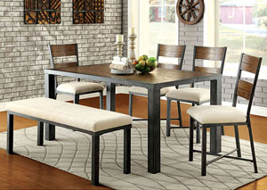 Jazlyn l Weathered Oak Dining Table