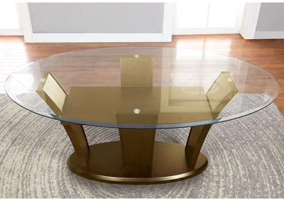 Manhattan l Oval Glass Top Dining Table