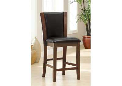 Manhattan lll Espresso Leatherette Counter Height Chair (Set of 2)