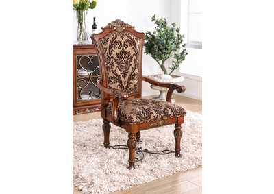 Lucie Brown Cherry Arm Chair (Set of 2)