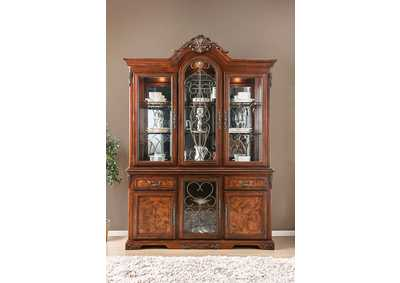 Image for Lucie Brown Cherry Hutch & Buffet
