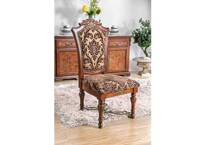 Lucie Brown Cherry Side Chair (Set of 2)
